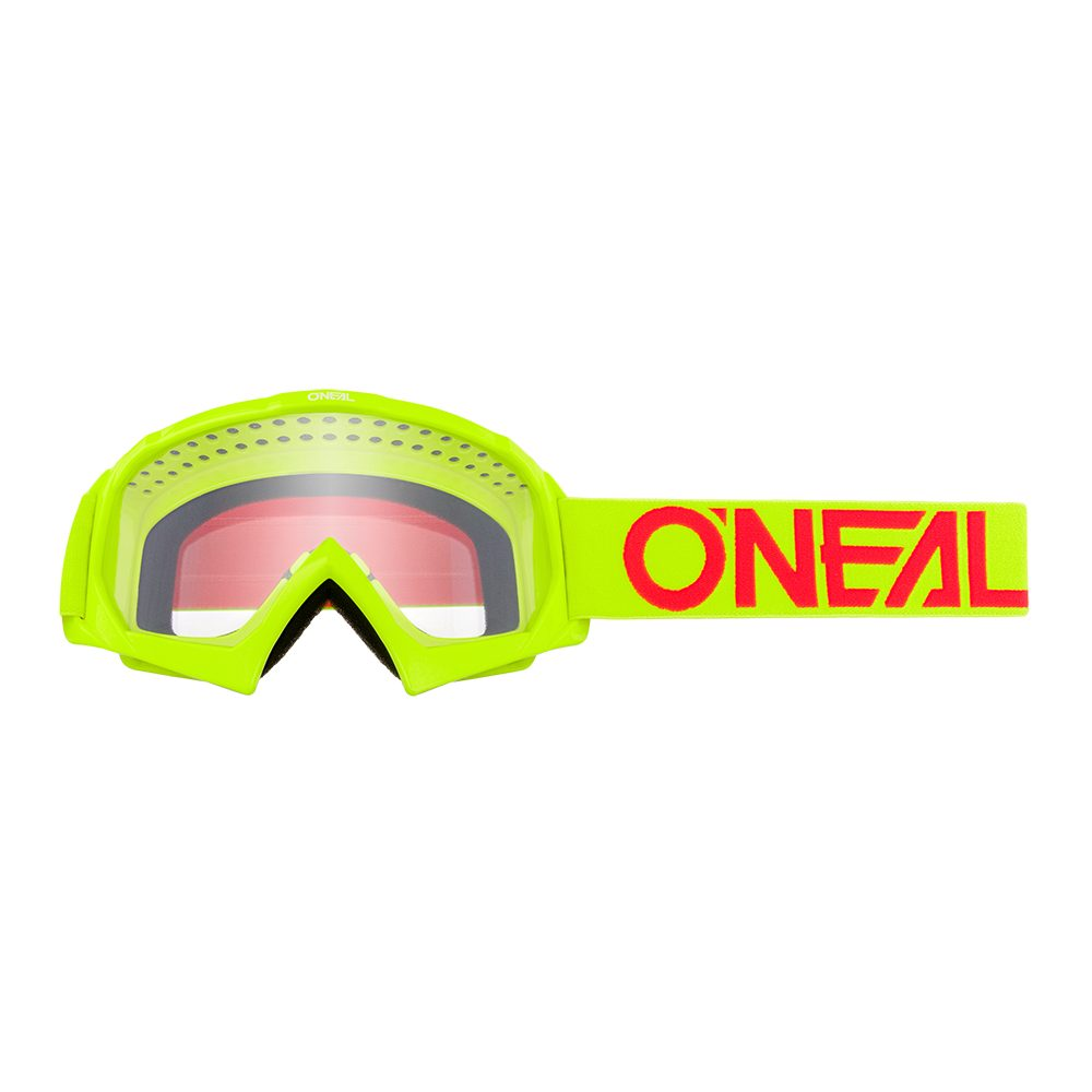 ONEAL B-10 Youth Solid MX MTB Kinder Brille gelb rot