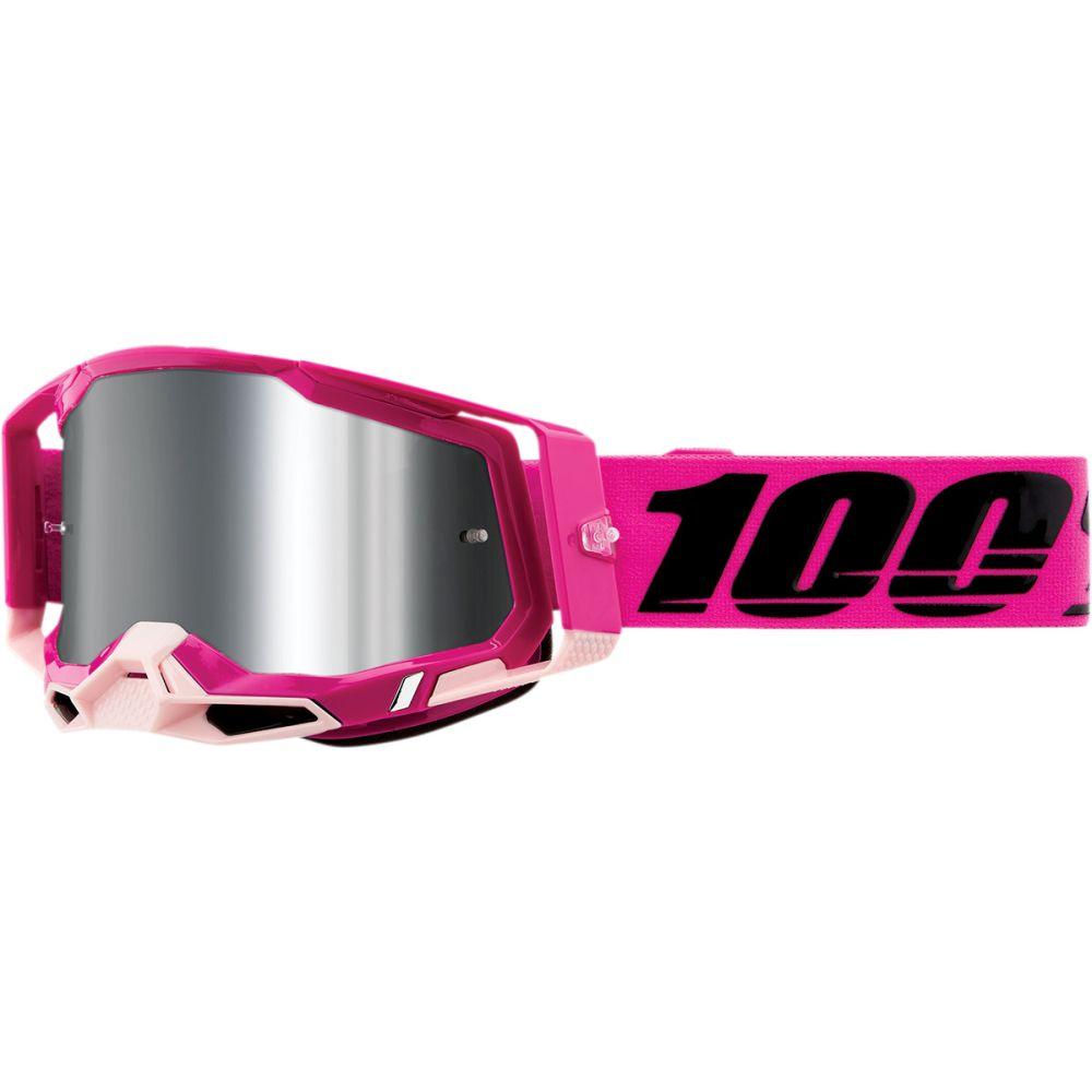 100%  Racecraft 2 Maho MX MTB Brille silber verspiegelt