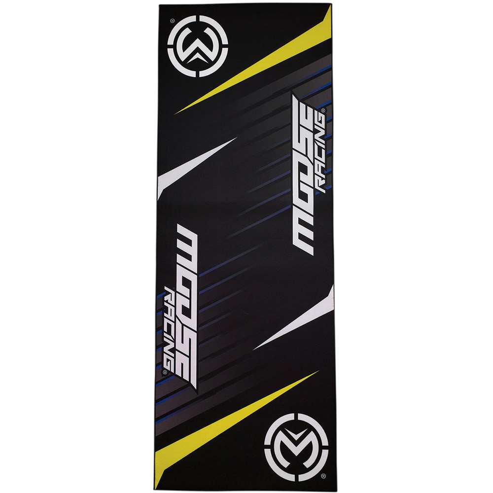 MOOSE RACING Pit Matte Motocross Fahrermatte Umweltmatte schwarz gelb