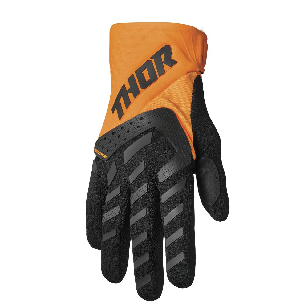 THOR Spectrum Youth Kinder Motocross Handschuhe orange schwarz