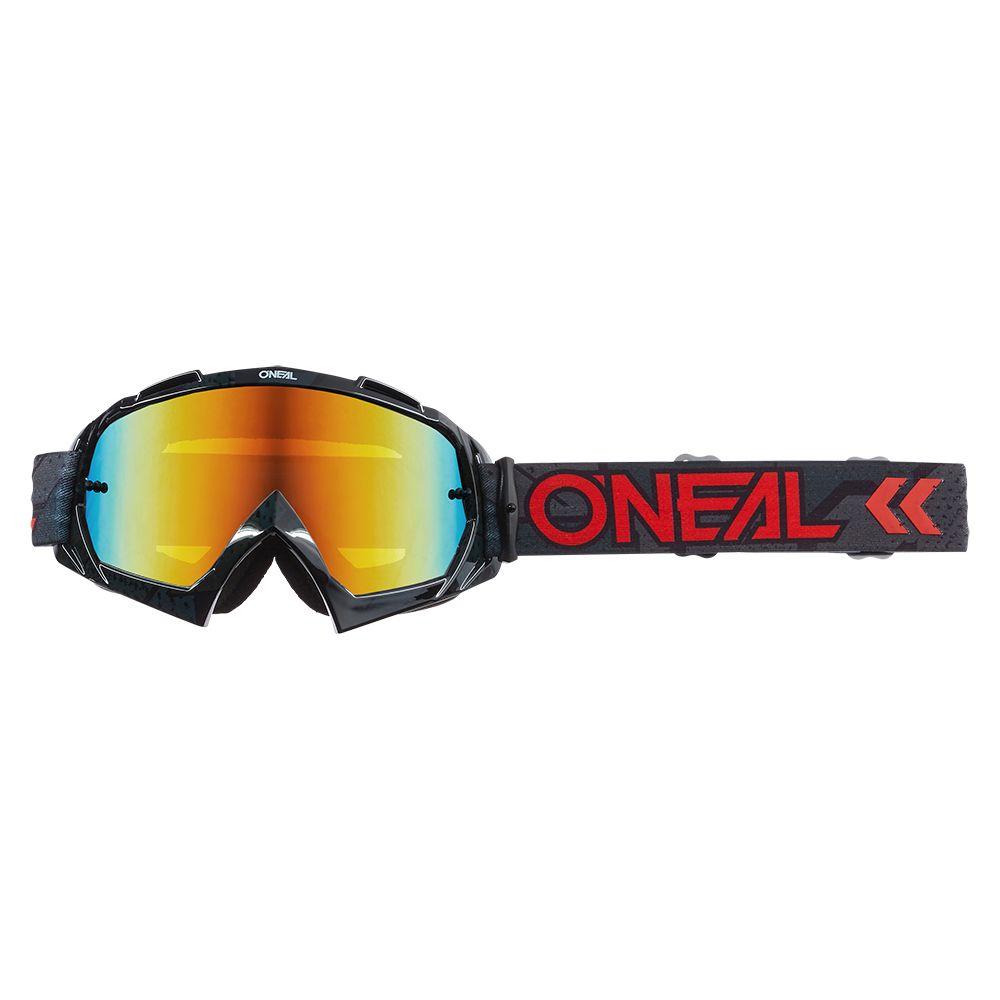 ONEAL B-10 Camo V.22 MX MTB Brille schwarz rot rot
