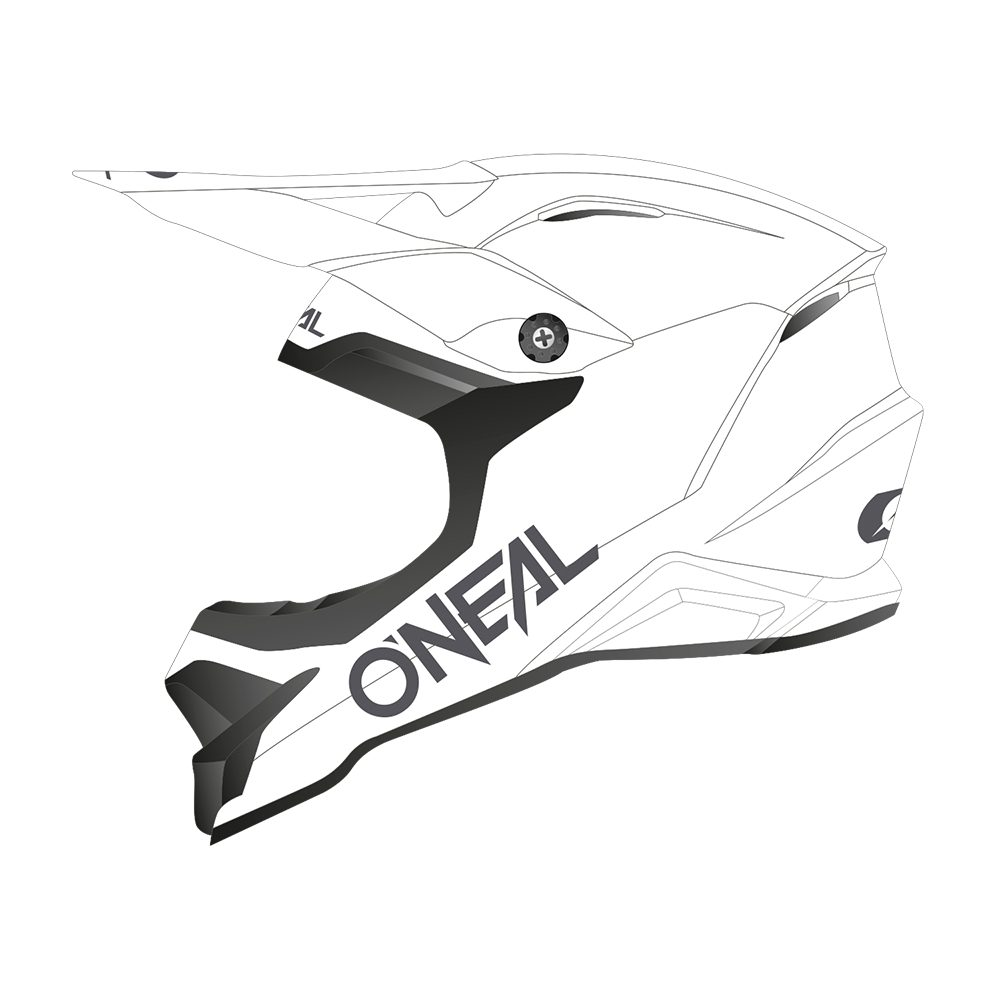 ONEAL 3SRS Solid MX Helm weiss