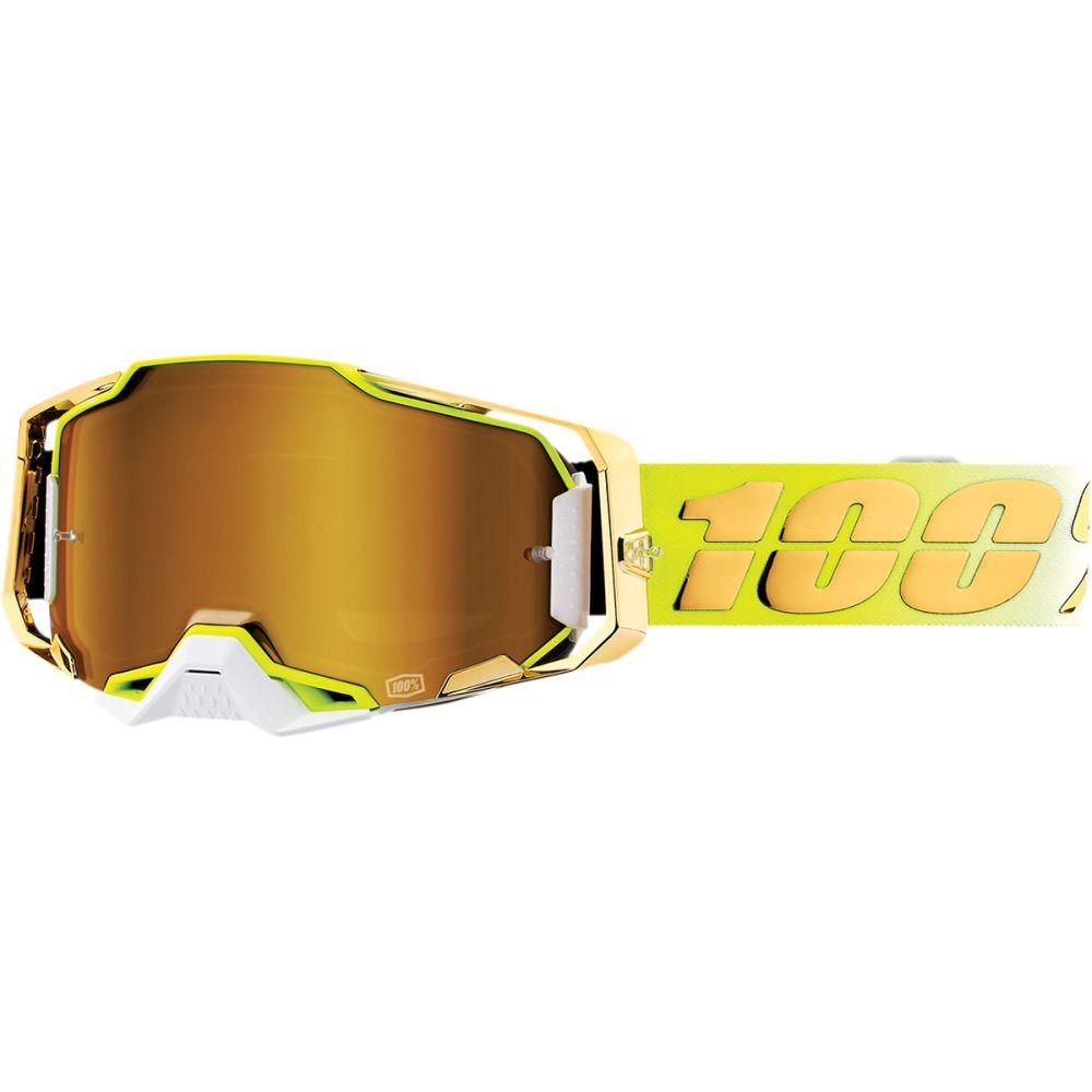 100% Armega Feelgood MX MTB Brille gold verspiegelt