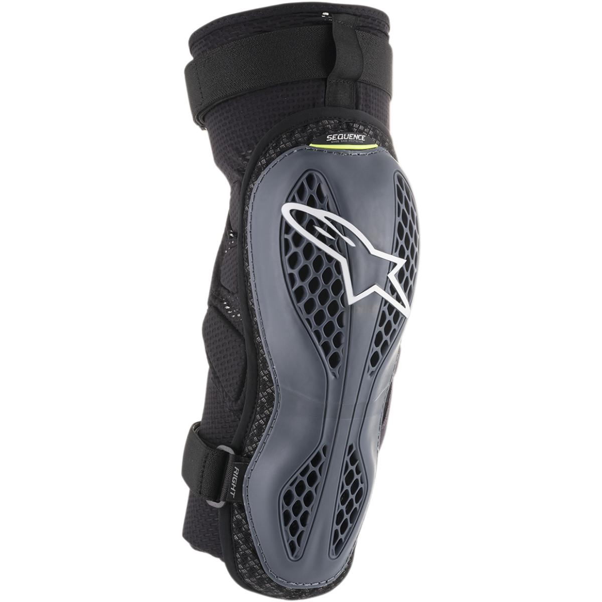 ALPINESTARS Sequence Motocross Knie Protektoren grau gelb schwarz