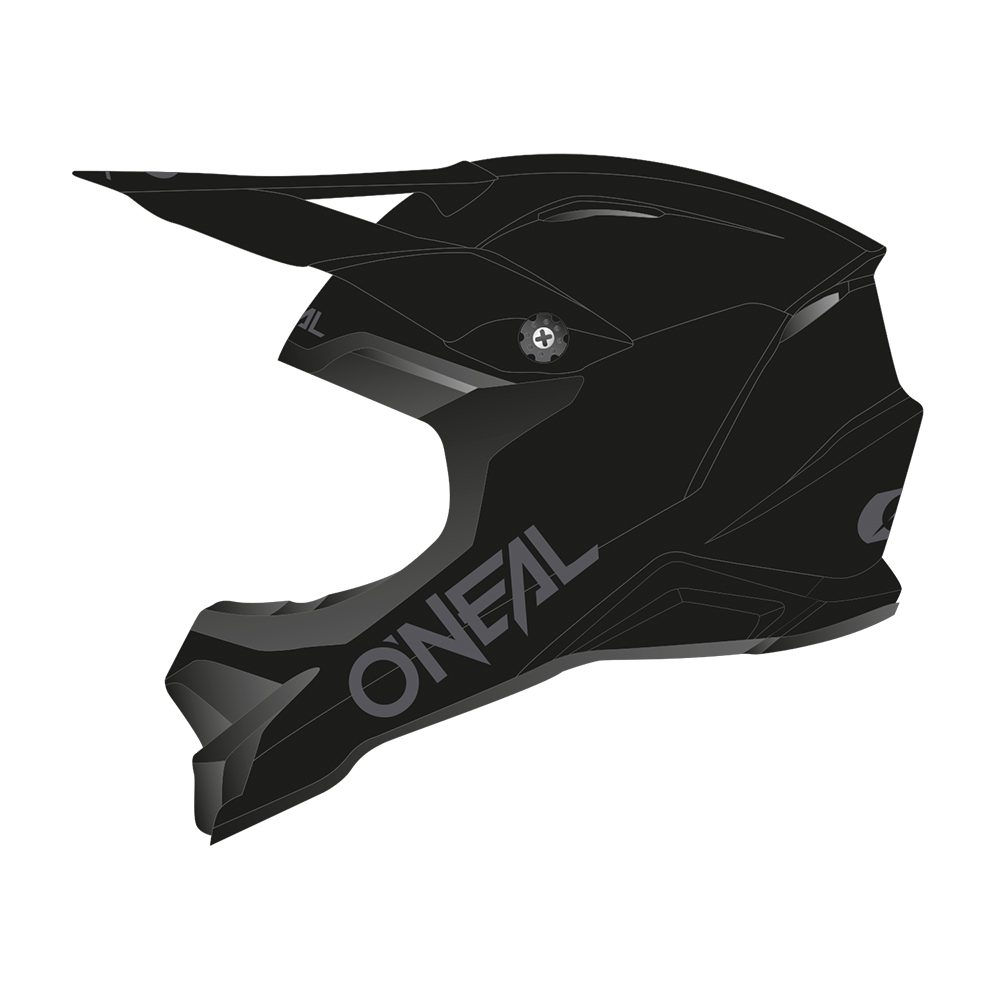 ONEAL 3SRS Solid MX Helm schwarz