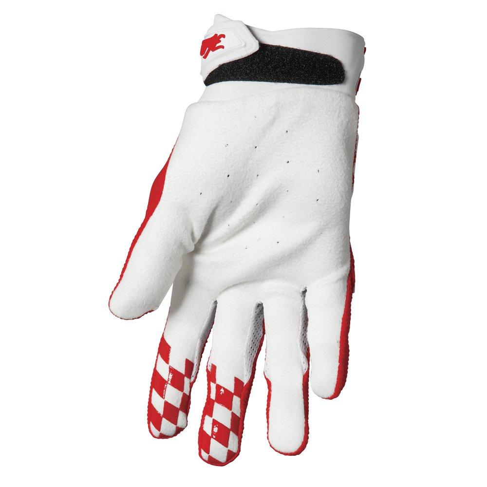 THOR Hallman Digit Motocross Handschuhe weiss rot