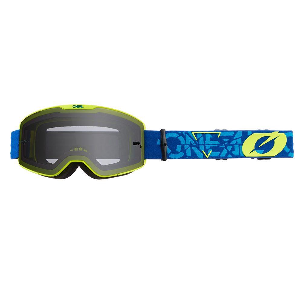 ONEAL B-20 Strain V.22 MX MTB Brille blau gelb grau