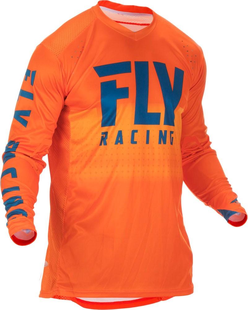 FLY Lite Hydrogen Motocross Jersey orange navy