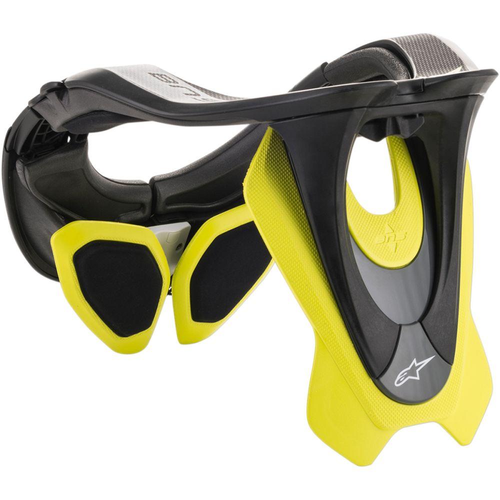 ALPINESTARS BNS Tech 2 Neck Brace Nacken Protektor schwarz gelb