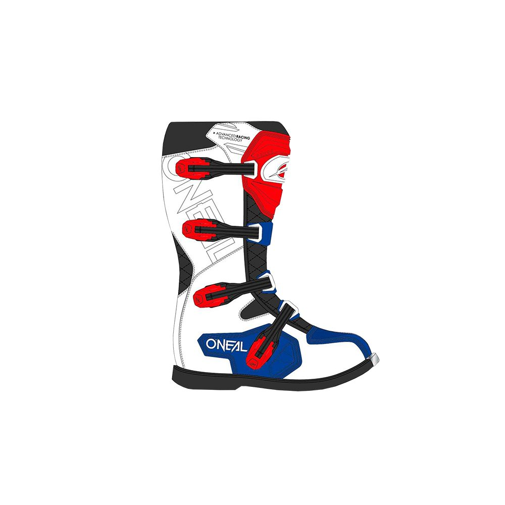 ONEAL Rider Pro Boot Motocross Stiefel blau rot weiss