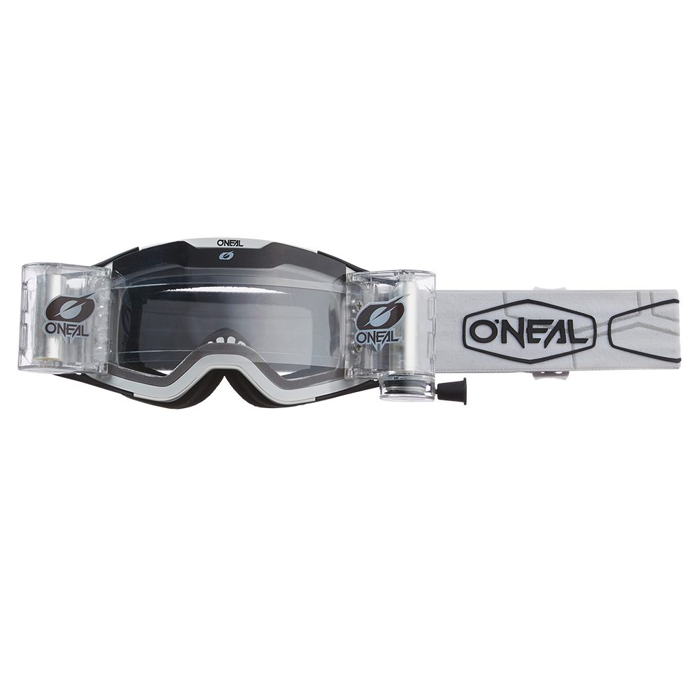 ONEAL B-30 Hexx V.22 Roll Off MX MTB Brille schwarz weiss