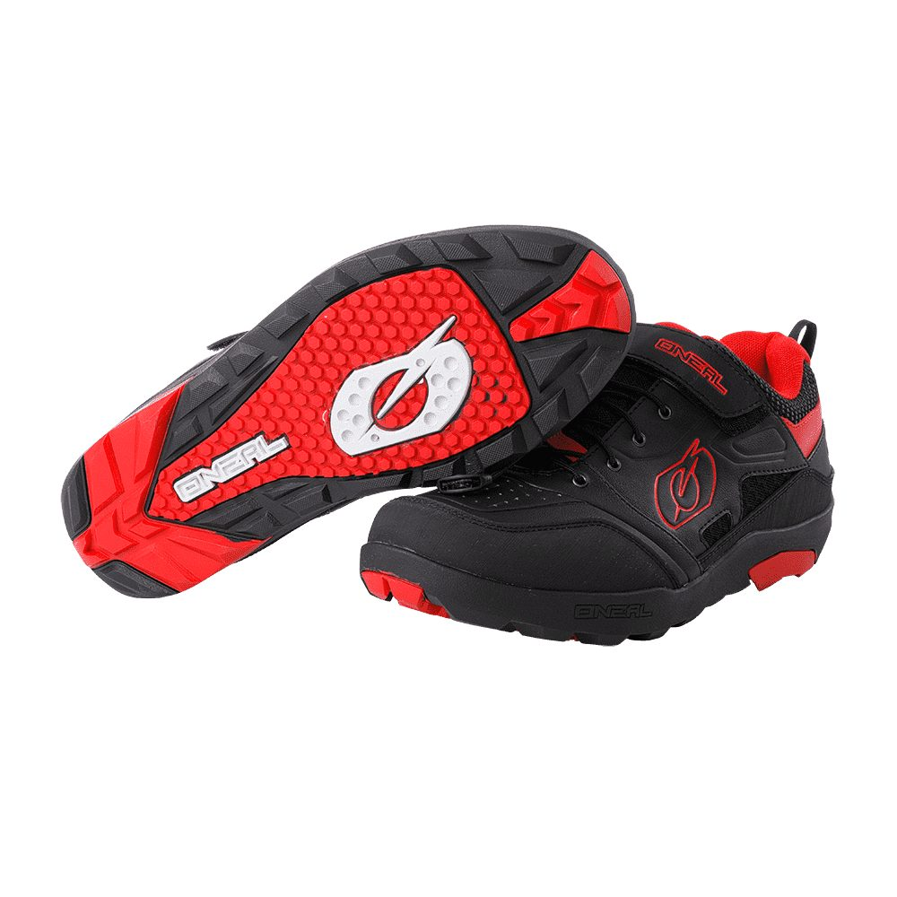 ONEAL Traverse Flat MTB Schuhe schwarz rot