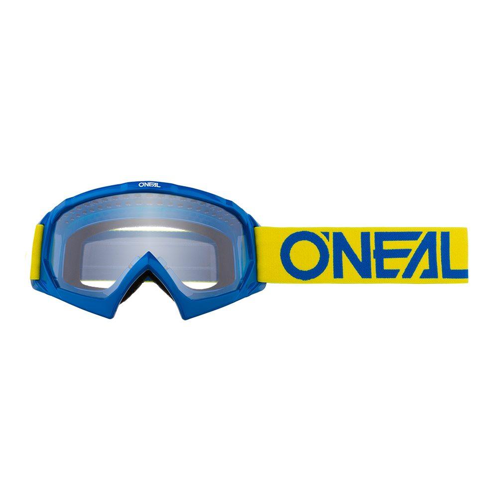 ONEAL B-10 Youth Solid MX MTB Kinder Brille gelb blau