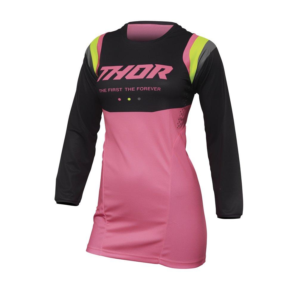 THOR Pulse Rev Women Frauen Motocross Jersey grau pink