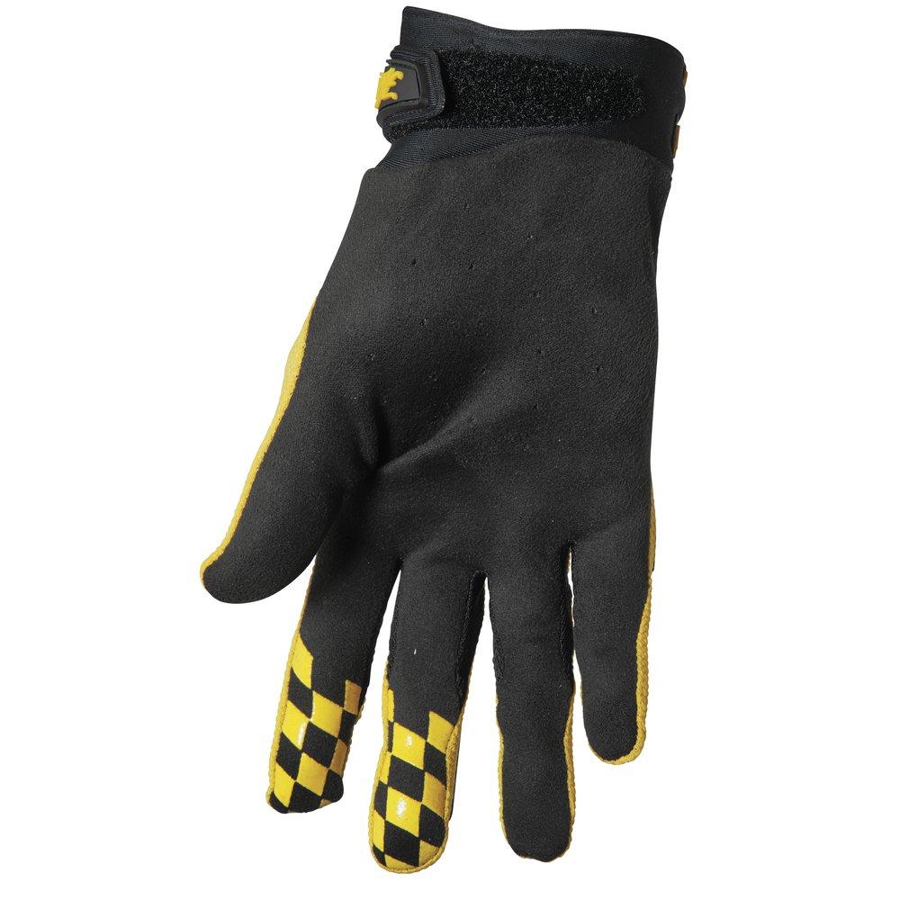 THOR Hallman Digit Motocross Handschuhe schwarz gelb