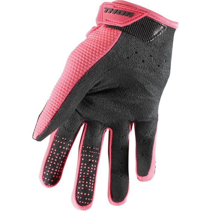 THOR Spectrum Frauen MX MTB Handschuhe schwarz pink