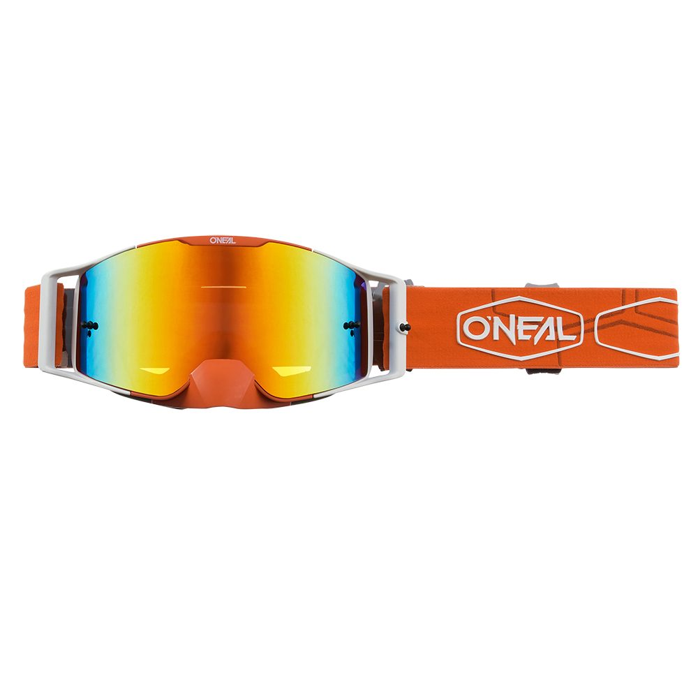 ONEAL B-30 Hexx V.22 MX MTB Brille orange weiss rot