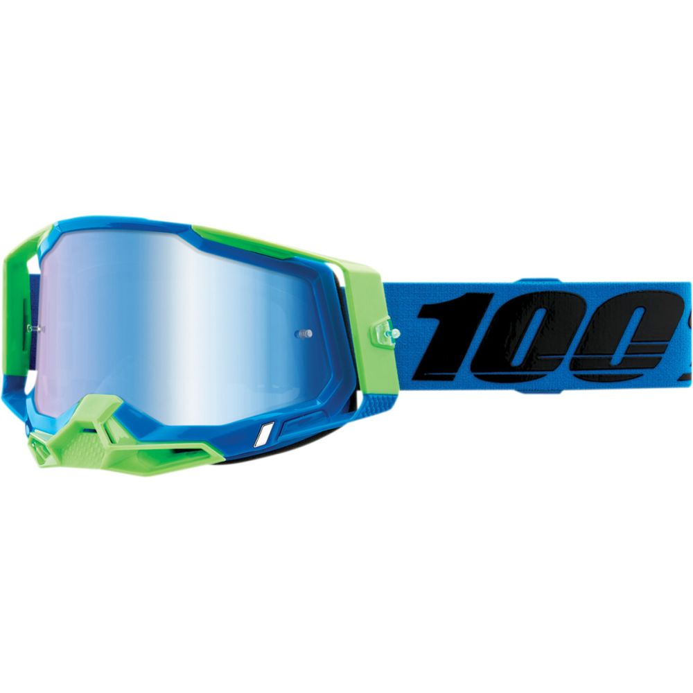 100% Racecraft 2 Fremont MX MTB Brille blau verspiegelt