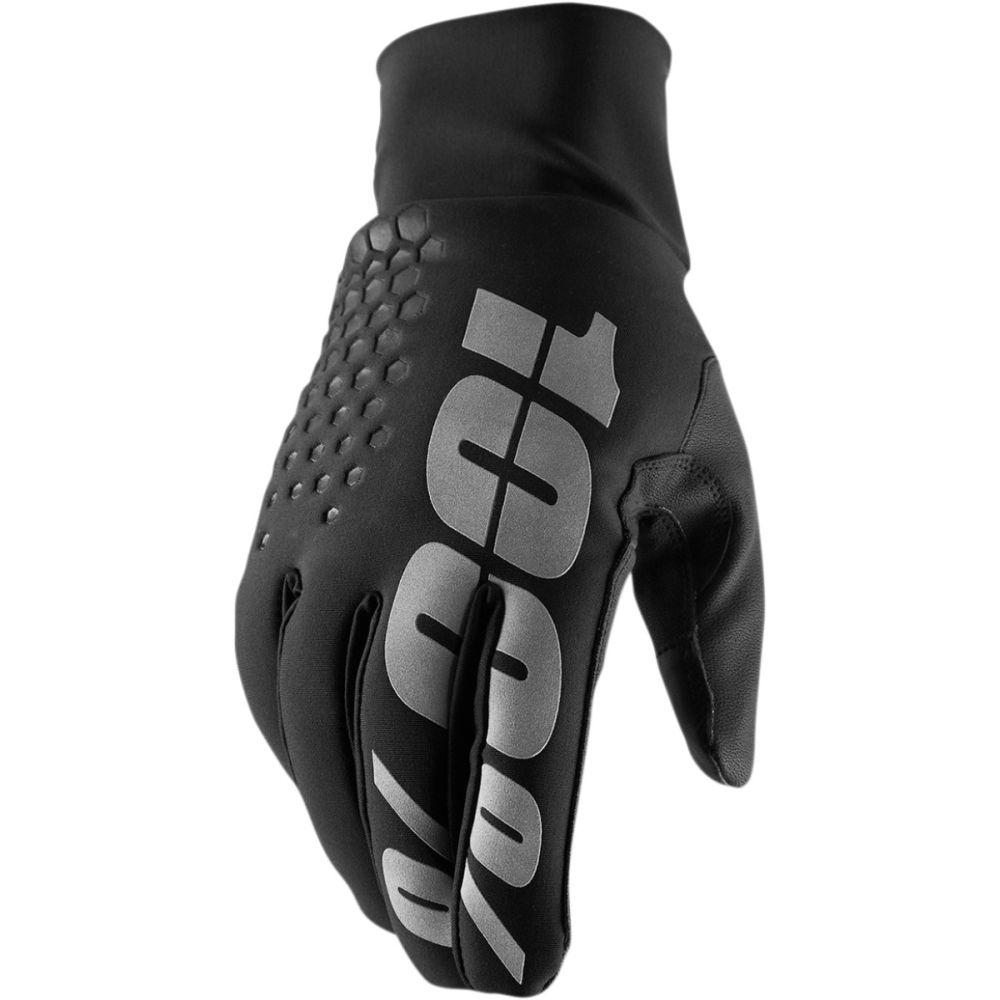 100% Hydromatic Brisker MX MTB wasserdichte Handschuhe schwarz