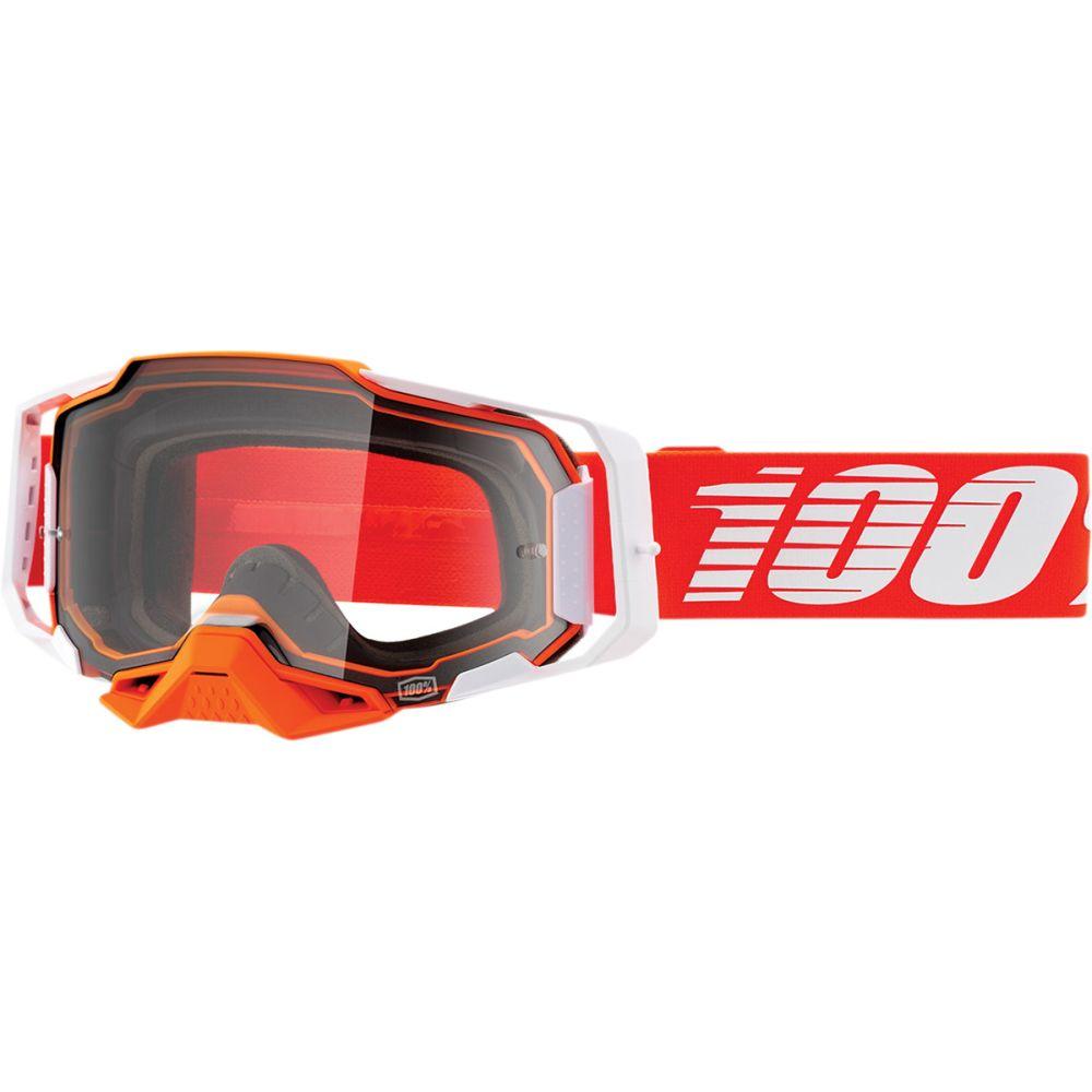 100% Armega Regal MX MTB Brille rot verspiegelt