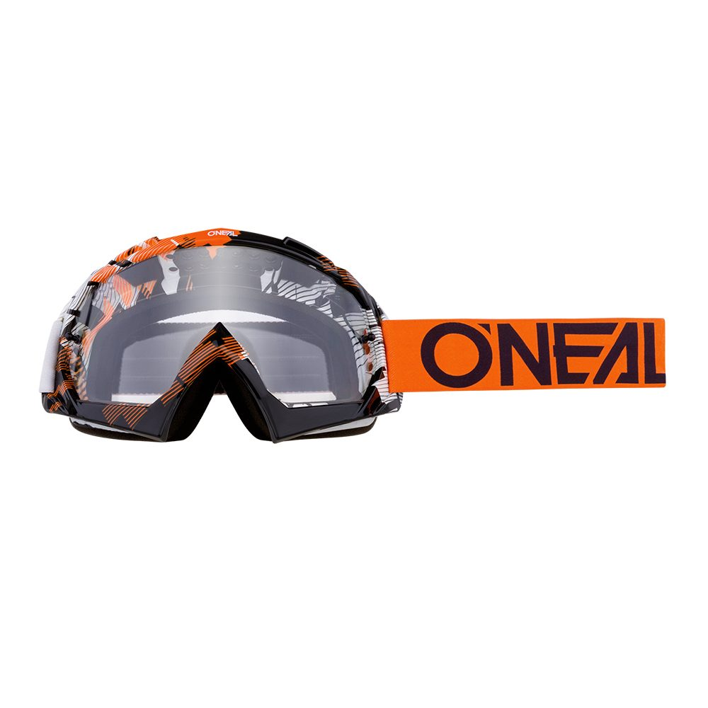 ONEAL B-10 Solid MX MTB Brille orange weiss