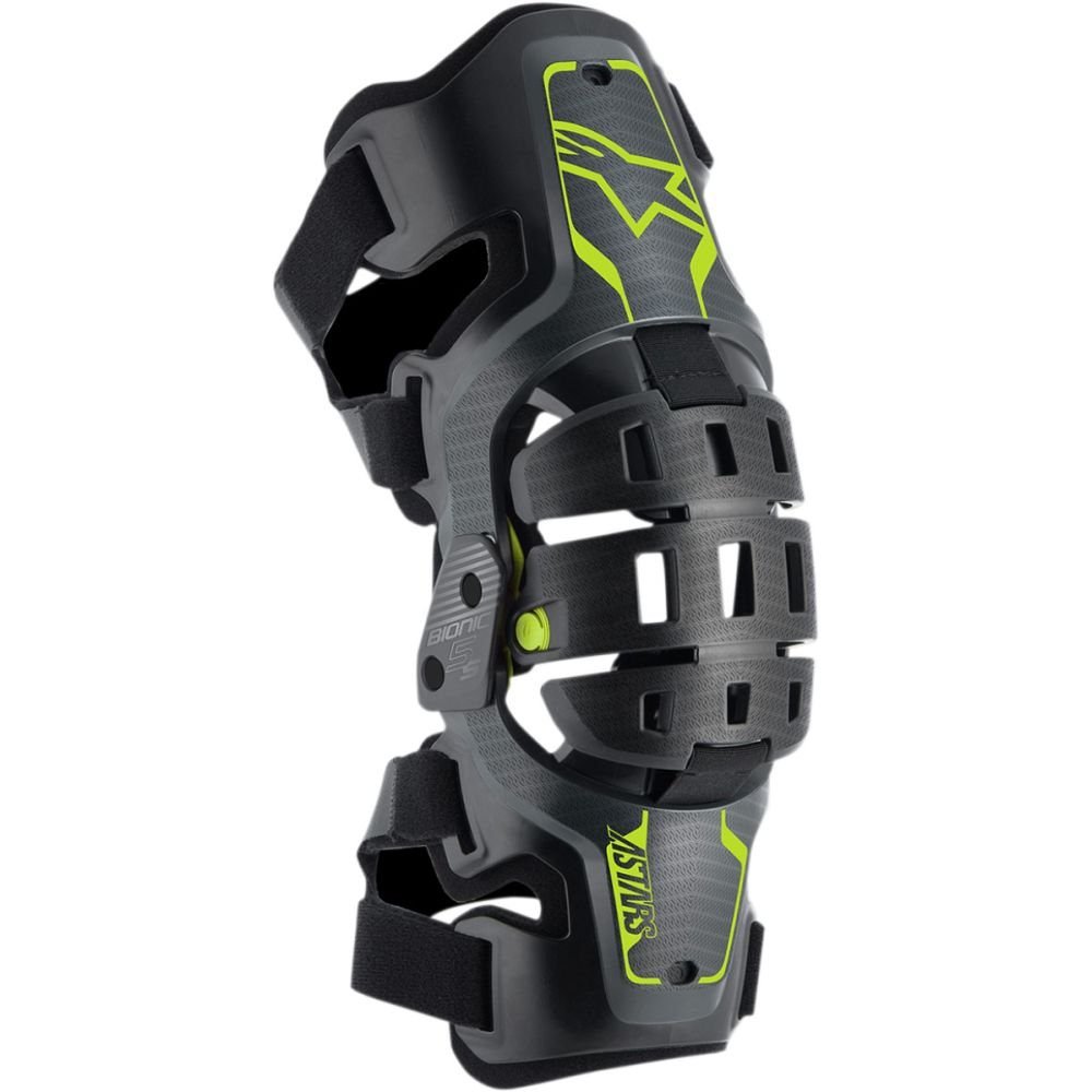 ALPINESTARS Bionic 5S Youth Kinder Motocross Knieorthese schwarz grau gelb