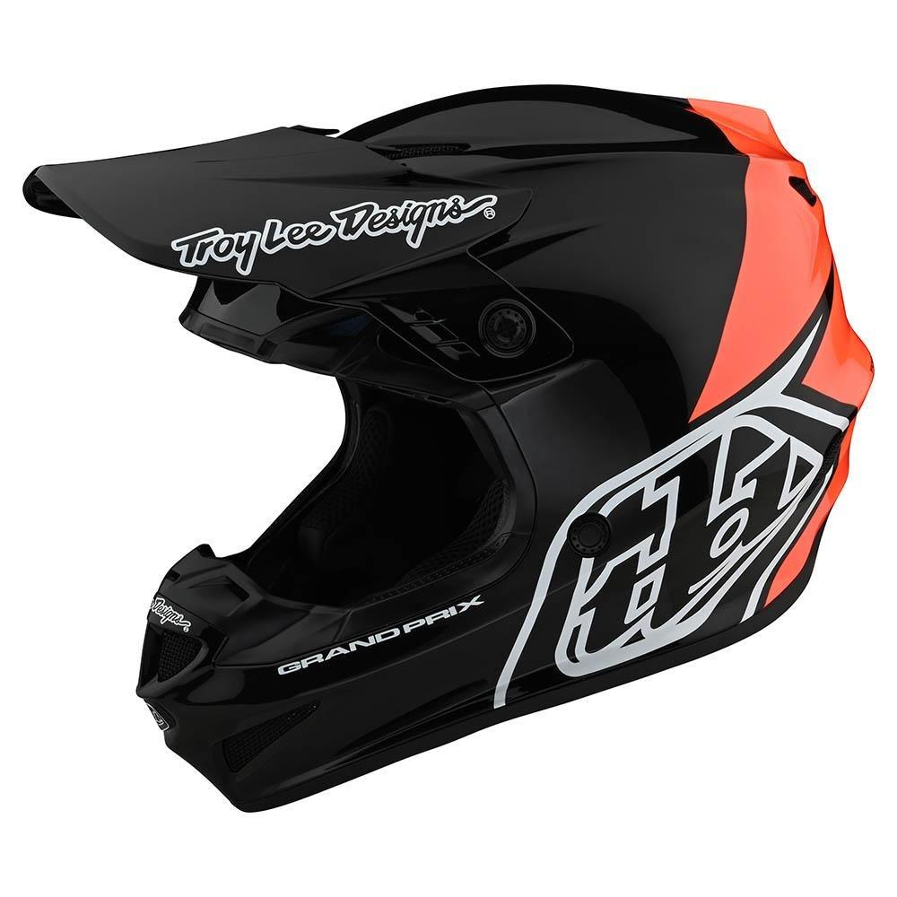 TROY LEE DESIGNS GP Block Motocross Helm schwarz orange