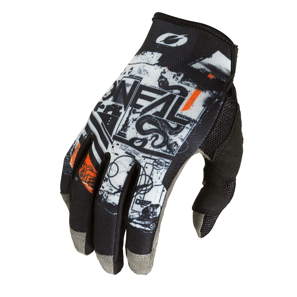 ONEAL Mayhem Scarz V.22 MX MTB Handschuh schwarz grau orange
