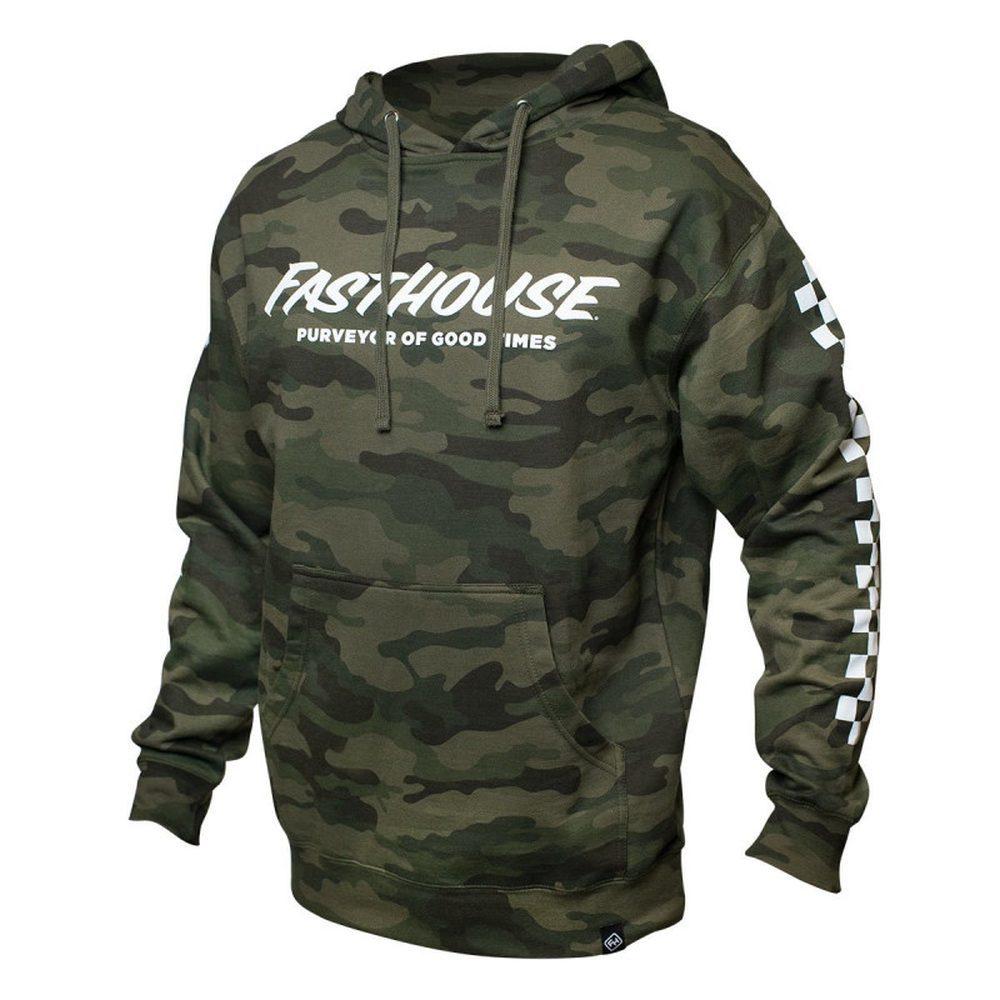 FASTHOUSE Hooded Logo Kapuzen Pullover camo grün
