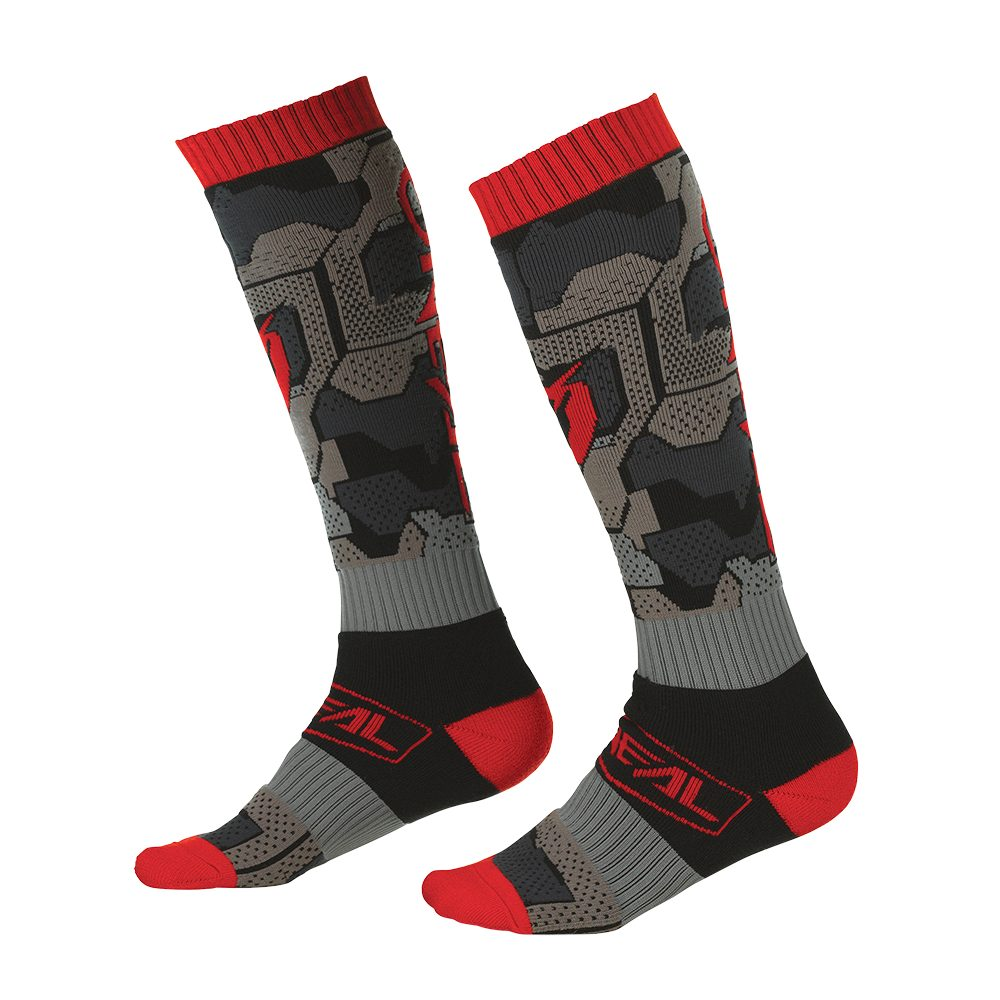 ONEAL PRO Camo V.22 MX Socken schwarz rot