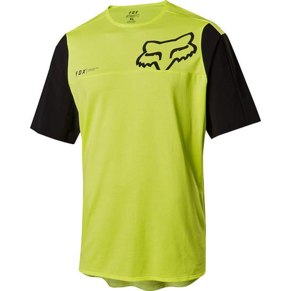 FOX Attack Pro SS kurzärmliges MTB Jersey Spring gelb schwarz