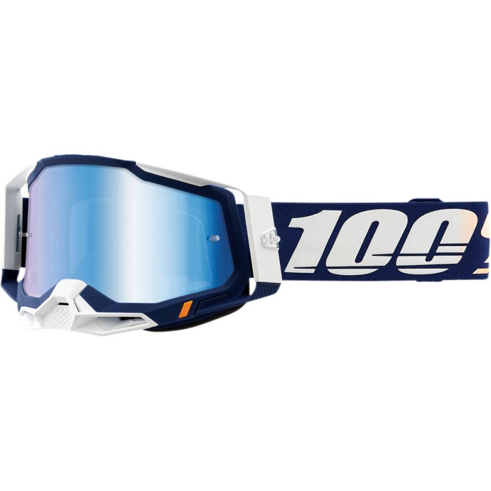 100% Racecraft 2 Concordia MX MTB Brille blau verspiegelt