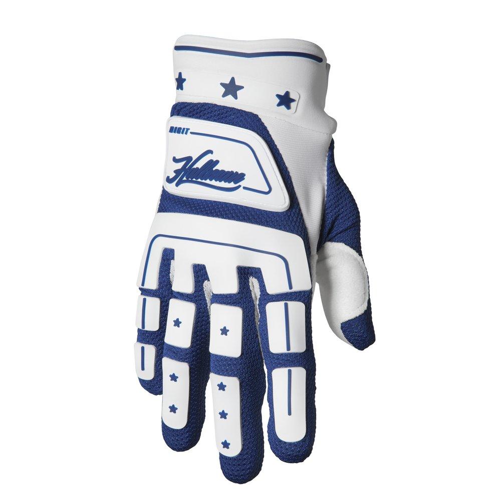 THOR Hallman Digit Motocross Handschuhe weiss blau