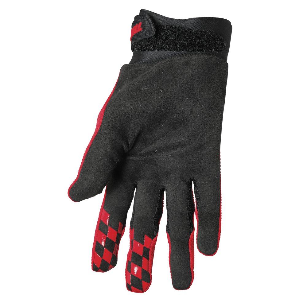 THOR Draft Motocross Handschuhe rot schwarz