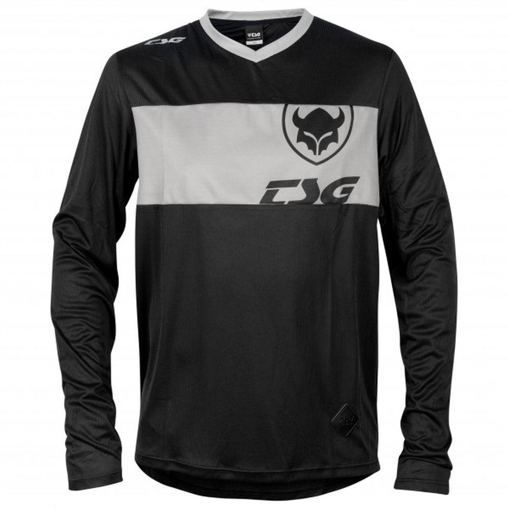 TSG Waft LS langärmliges MTB Jersey schwarz grau
