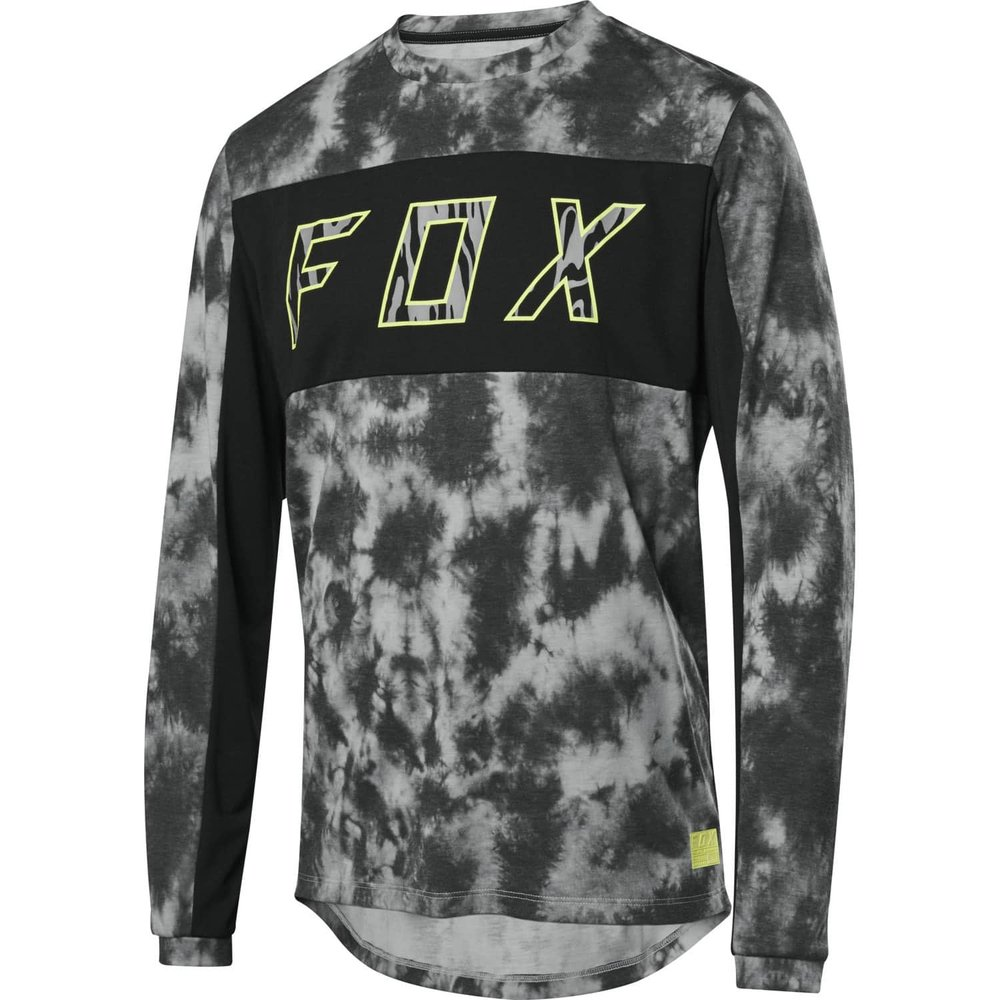 FOX Ranger DR LS Elevated langärmliges MTB Jersey schwarz