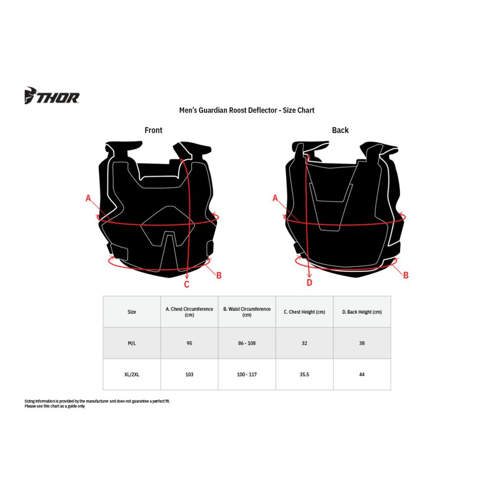 THOR Guardian MX MTB Brustpanzer schwarz