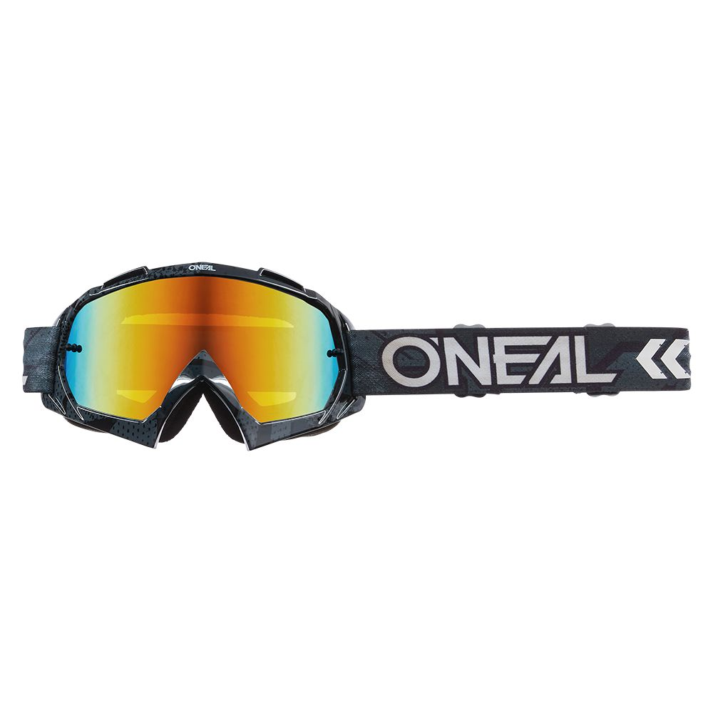 ONEAL B-10 Camo V.22 MX MTB Brille schwarz weiss rot