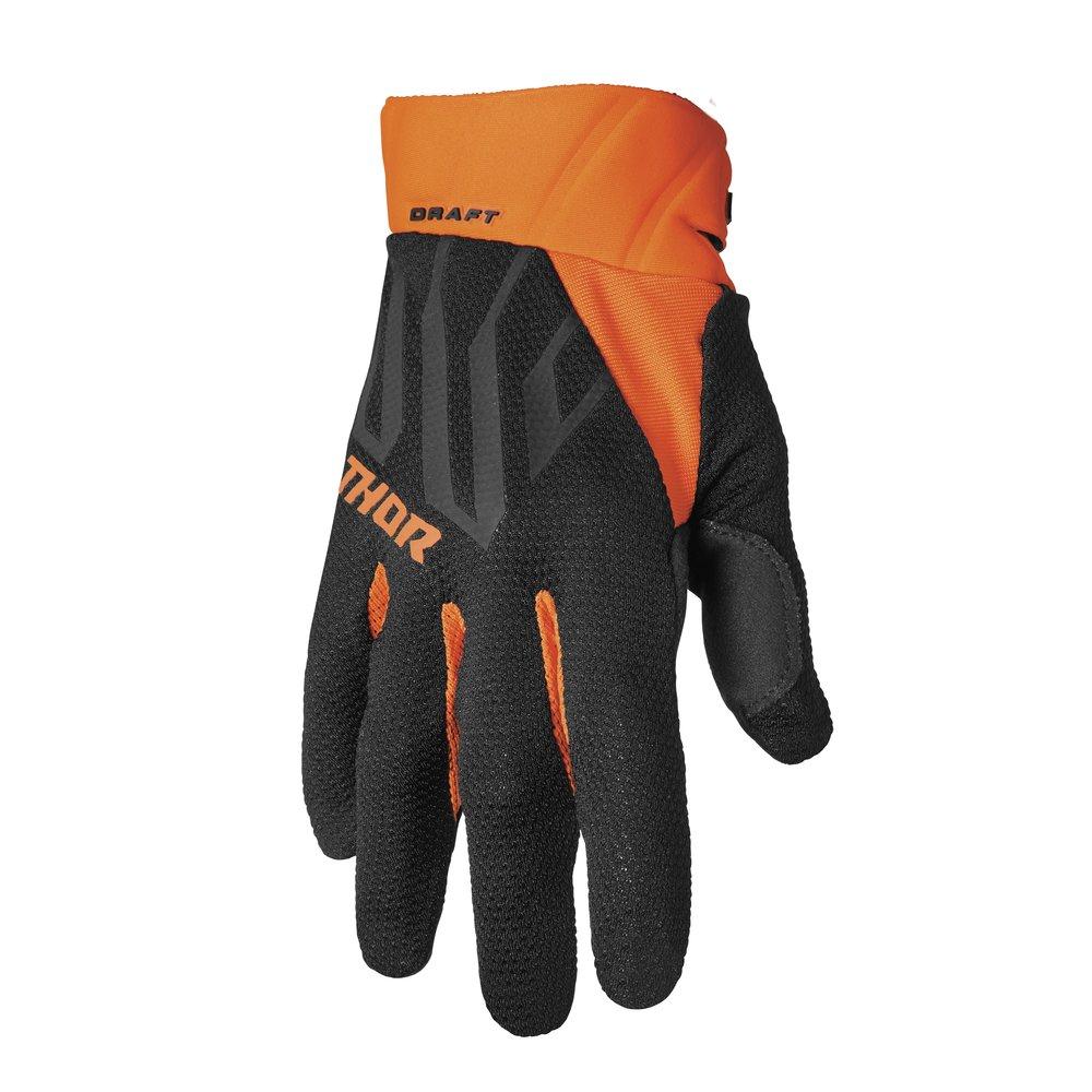 THOR Draft Motocross Handschuhe schwarz orange