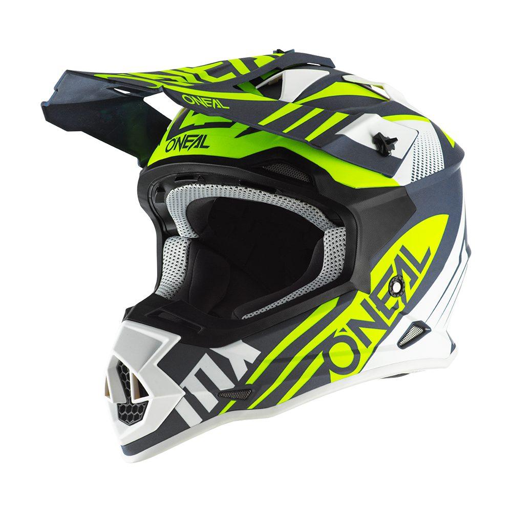 ONEAL 2SRS Spyde 2.0 MX Helm blau weiss gelb