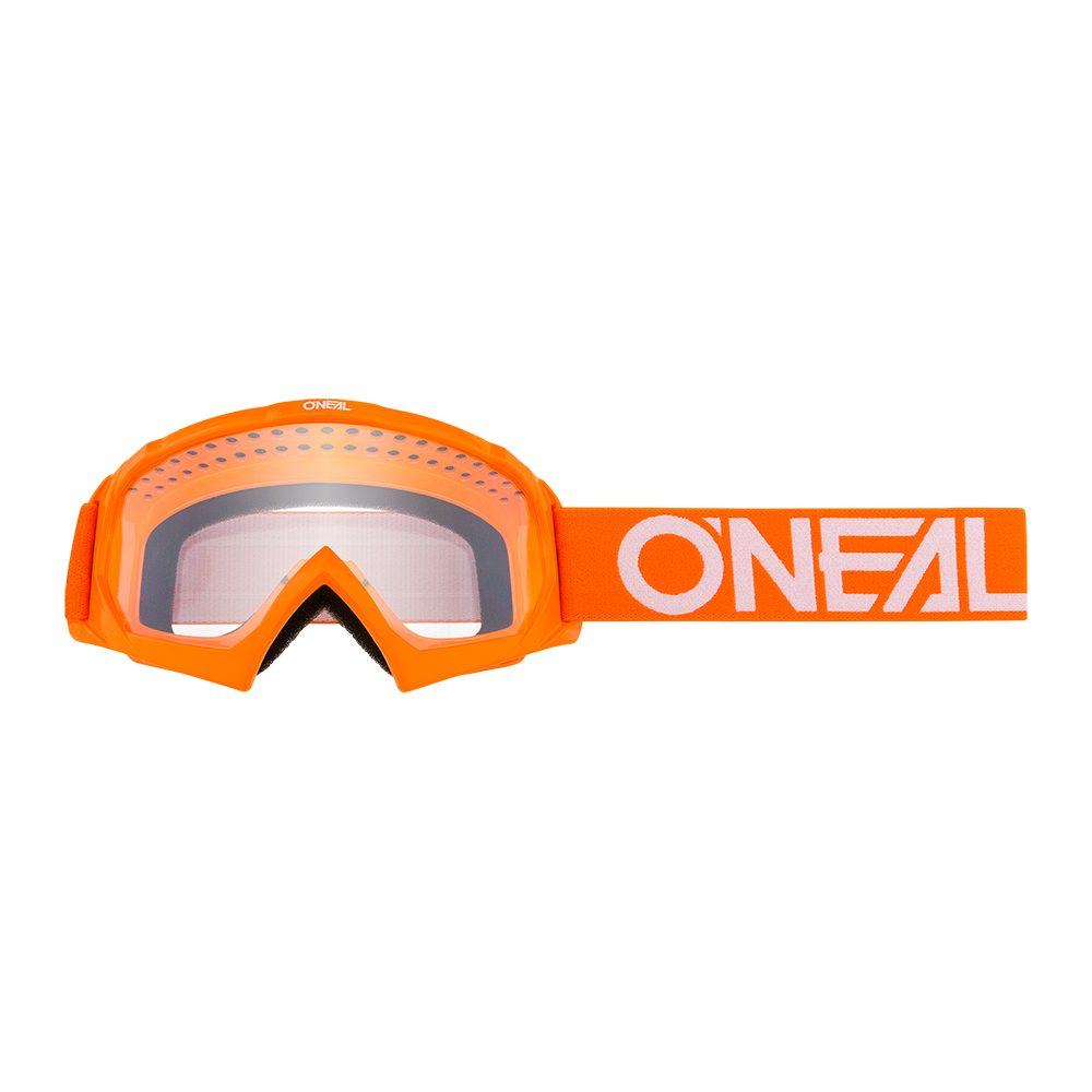 ONEAL B-10 Youth Solid MX MTB Kinder Brille orange weiss