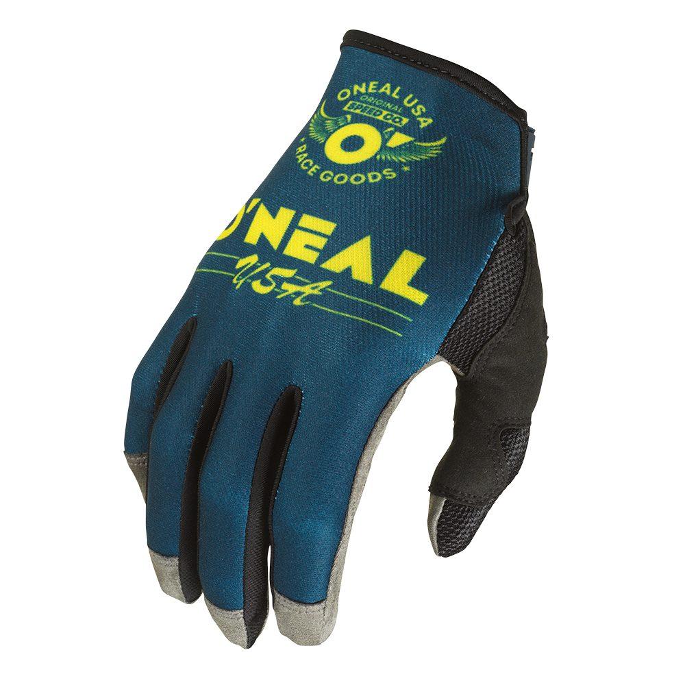 ONEAL Mayhem Bullet V.22 MX MTB Handschuh blau gelb