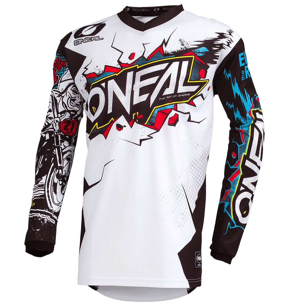 ONEAL Element Youth Villain MX Kinder Jersey weiss