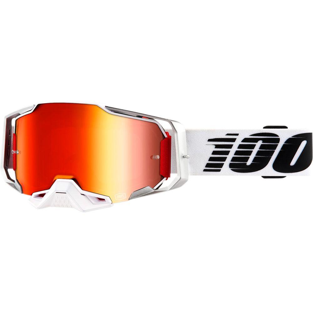 100% Armega Lightsaber MX MTB Brille rot verspiegelt