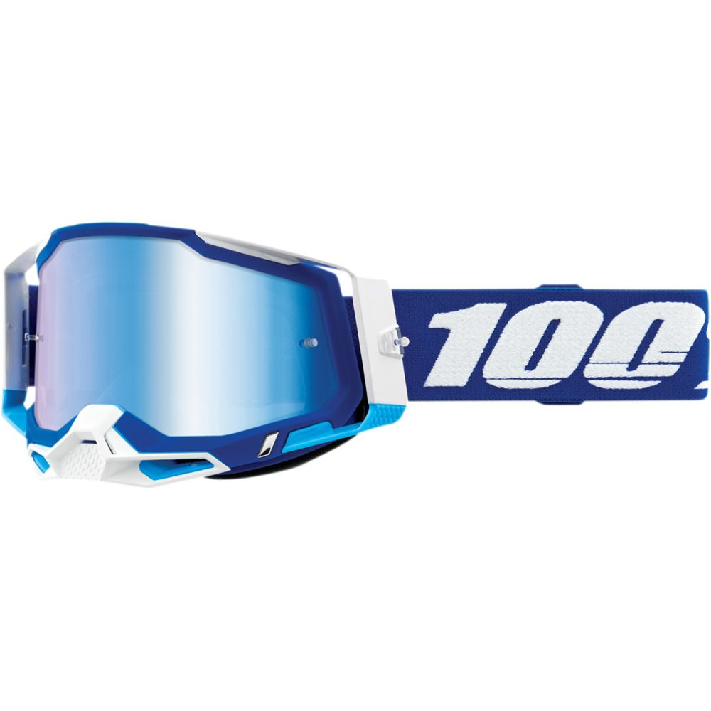 100% Racecraft 2 Blau MX MTB Brille blau verspiegelt