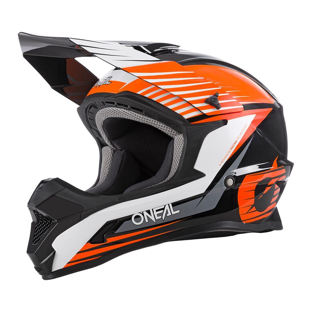 ONEAL 1SRS Stream MX Helm schwarz orange